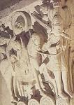 Romanisch. Heilige Familie a.d. Flucht nach Ägypten,1220/30