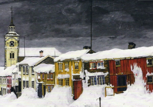 Harald Sohlberg. Straße in Roros im Winter, 1903
