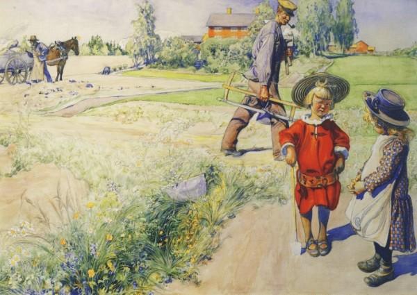 Carl Larsson. Esbjorn und das Bauernmädchen, 1904