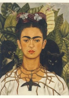 Frida Kahlo. Selbstbildnis mit Dornenhalsband, 1940