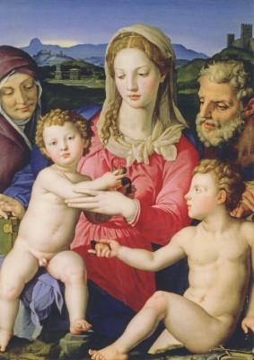 Agnolo Brontino. Die Heilige Familie mit der Heiligen Anna