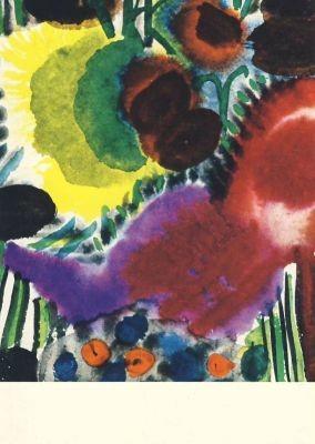 Kerkovius, I. Mädchen auf blumiger Wiese, 1958