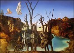 Salvador Dali. Schwäne, die Elefanten widerspiegeln, 1937