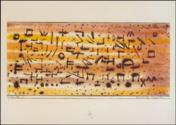 Klee, P. Zerstörtes Ägypten, 1924. KK