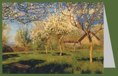 Lewitan, Isaak Iljitsch. Blühende Apfelbäume