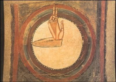 Romanisch. Die Hand Gottes, XII. Jh. KK