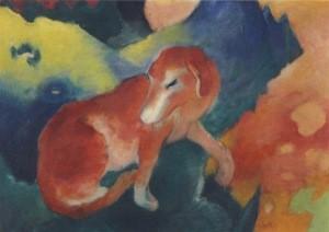 Franz Marc. Der rote Hund, 1911