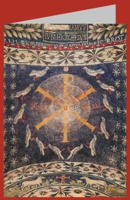 Christusmonogramm. Baptisterium, Albenga. DK