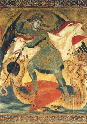 Lorenzetti, A. Hl. Michael, gest. ca. 1348. KK