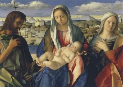 Giovanni Bellini. Madonna und Kind mit Johannes