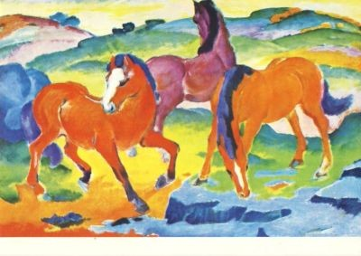 Rote Pferde, Marc