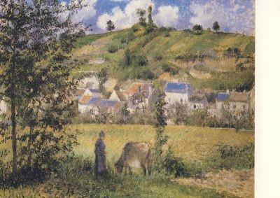 Camille Pissarro. Landschaft bei Chaponval. KK
