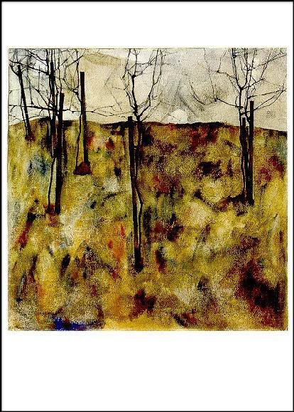 Schiele, E. Kahle Bäume, 1912. KK