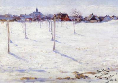 Peder Severin Krøyer. Hornbaek im Winter, 1891