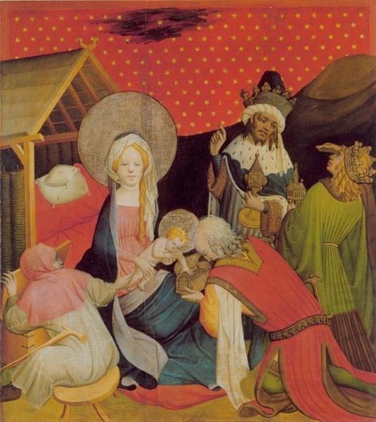 Meister Franke.Die Heiligen drei Könige beten d.Jesusk.an.KK