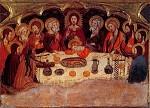 Abendmahl. Gotische Malerei, 2. Hälfte des XIV. Jh. KK