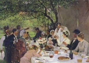 Fourie, Albert-Auguste. Das Hochzeitsmahl bei Yport, 1886