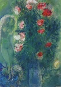 Marc Chagall. Paar am grünen Himmel, 1950. KK