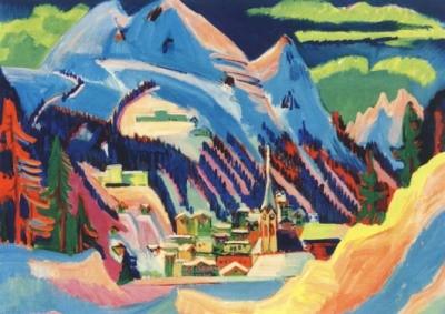 Ernst Ludwig Kirchner. Davos im Schnee, 1923