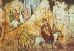 Byzantinisch. Flucht nach Ägypten, 16. Jh. Zyprisch KK