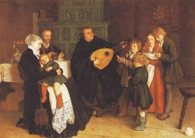 Spangenberg, G. Martin Luther im Kreis seiner Familie. KK