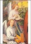 """Hans Memling. Engel a. """"Maria im Rosenhang"""", Ausschnitt. KK"""