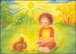 Stinner, H. Junge mit Eichhörnchen. KK