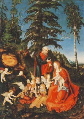 Cranach, Lucas d.Ä. Rast auf der Flucht nach Ägypten. KK
