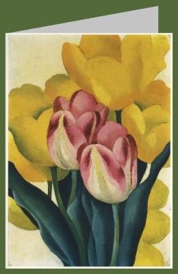 Georgia O´Keeffe. Rosa und gelbe Tulpen, 1925