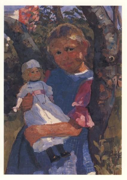 Elisabeth. Büchsel. Hiddenseer Kind mit Puppe. KK