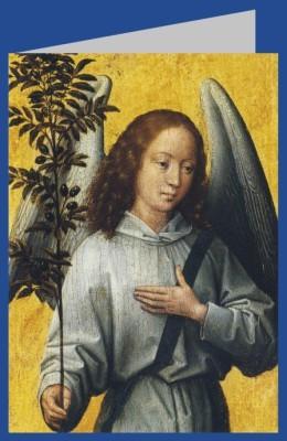 Hans Memling. Engel, einen Olivenbaum-Zweig haltend. DK