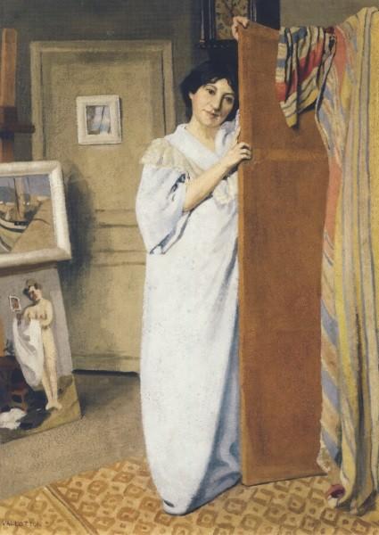 Félix Vallotton. Madame Vallotton im Morgenrock, 1902