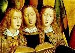 Hans Memling. Christus umgeben von singenden Engeln. KK