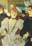 Henri de Toulouse-Lautrec. Die Goulue betritt d.Moulin Rouge