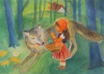 Dorothea Schmidt. Rotkäppchen und der Wolf