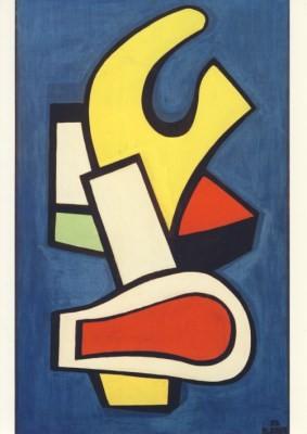 Fernand Léger. Architektonische Komposition auf blauen Grund