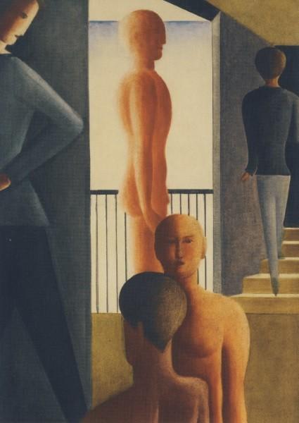 Oskar Schlemmer. Fünf Männer im Raum, 1928
