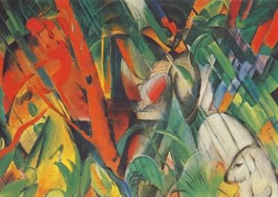Franz Marc. Im Regen, 1912