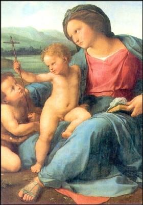Raffael. Madonna d`Alba (Ausschnitt) KK