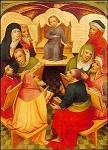 Kölnsche Malschule.Zwölfjähriger Jesus im Tempel,um 1400.KK