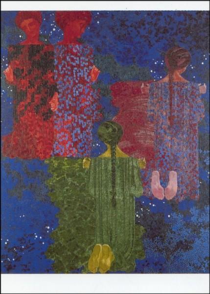 Giacometti, Augusto. Das Kreisen der Planeten, 1910. KK