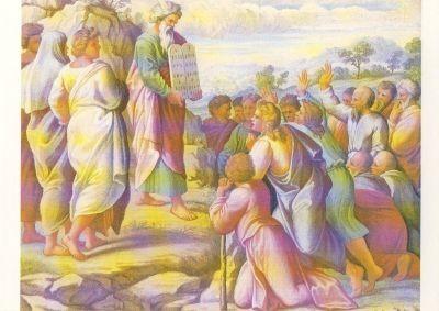 Raffael. Er stieg vom Berg Sinai herab, in den Händen ....KK