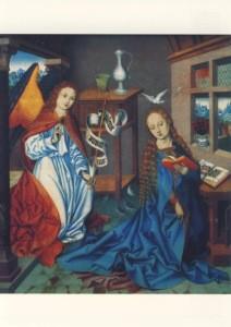 Mittelrheinischer Meister. Verkündung an Maria, um 1490