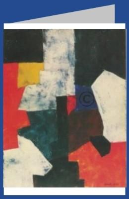 Poliakoff, Serge. Komposition Rot-Grau-Blau, um 1958. DK