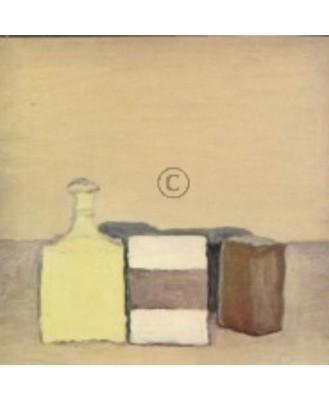 Morandi, Giorgio. Stilleben mit gelber Flasche, 1951. KK