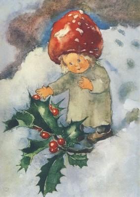 Mili Weber. Rote Beeren im Winter
