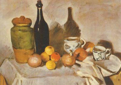 Cézanne, P. Sillleben mit Füchten und Geschirr