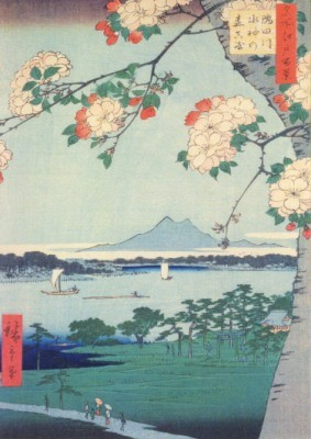 Utagawa Hiroshige. Auf dem Fluss Sumida, 1856