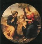 Raffael. Heilige Familie unter dem Palmembaum, um 1507. KK