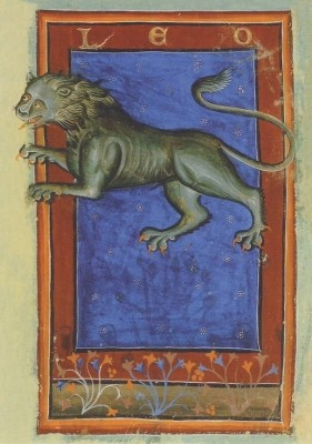 Liber Astrologiae, 14. Jh. Löwe. KK